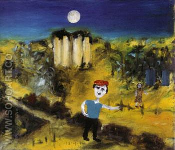 Dimboola 1944 - Sidney Nolan reproduction oil painting