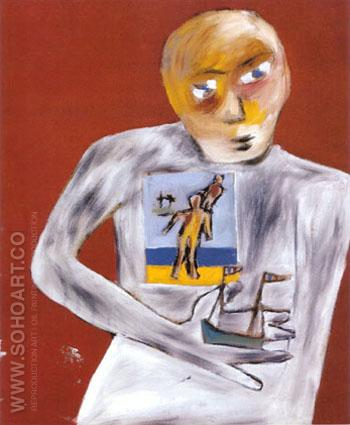 Portrait of John Perceval with a Model Boat c 1943 - Sidney Nolan reproduction oil painting