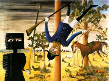 Death of Constable Scanlon 1946 - Sidney Nolan reproduction oil painting