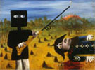 Death of Sergeant Kennedy at Stringybark Creek 1946 - Sidney Nolan reproduction oil painting
