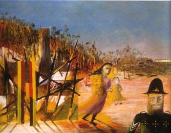 Mrs Reardon at Glenrowan 1946 - Sidney Nolan reproduction oil painting