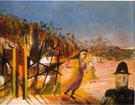 Mrs Reardon at Glenrowan 1946 - Sidney Nolan reproduction oil painting