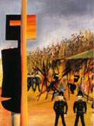 Burning at Glenrowan 1946 - Sidney Nolan reproduction oil painting