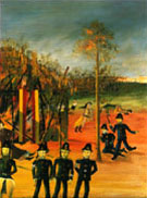 Sieqe at Glenrowan 1946 - Sidney Nolan reproduction oil painting