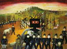 Glenrowan 1946 - Sidney Nolan reproduction oil painting