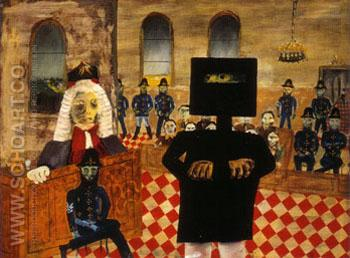 The Trial 1947 - Sidney Nolan reproduction oil painting