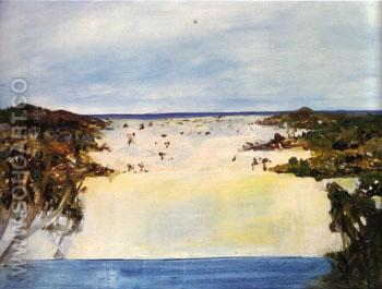 Lake Wabby Fraser lsland 1947 - Sidney Nolan reproduction oil painting
