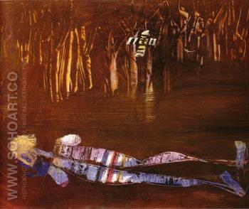 Woman and Mangroves 1957 - Sidney Nolan reproduction oil painting
