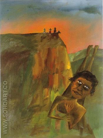 Aboriginal Hunt 1947 - Sidney Nolan reproduction oil painting