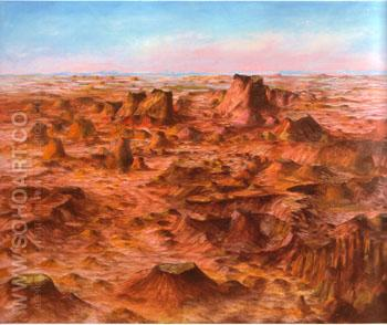 Inland Australia 1950 - Sidney Nolan reproduction oil painting