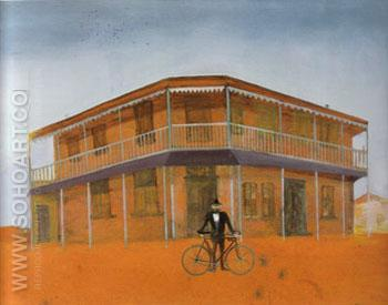 Going to Work Rising Sun Hotel 1948 - Sidney Nolan reproduction oil painting