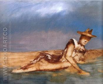 Soldier on a Beach 1962 - Sidney Nolan reproduction oil painting