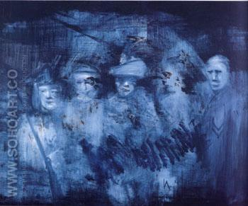 Soldiers 1959 - Sidney Nolan reproduction oil painting