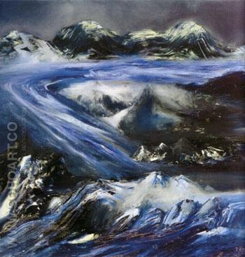 Glacier 1964 - Sidney Nolan reproduction oil painting