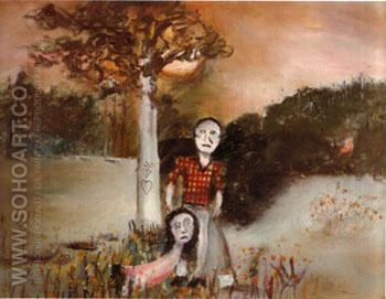 Gippsland lncident 1945 - Sidney Nolan reproduction oil painting