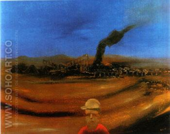 Mine 1972 - Sidney Nolan reproduction oil painting