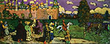 Russian Scene 1904 - Wassily Kandinsky reproduction oil painting
