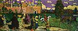 Russian Scene 1904 - Wassily Kandinsky