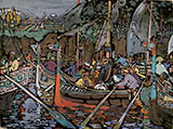 Volga Song 1906 - Wassily Kandinsky reproduction oil painting