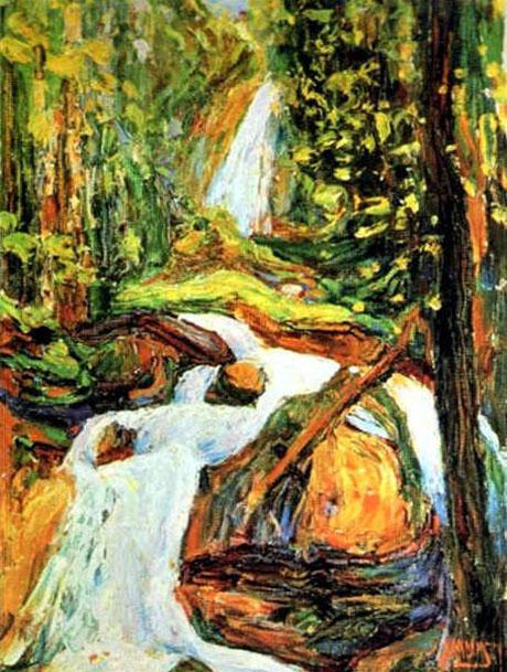 Kochel Waterfall I c 1900 - Wassily Kandinsky reproduction oil painting