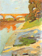 The Isar near Grosshesselohe 1901 - Wassily Kandinsky reproduction oil painting