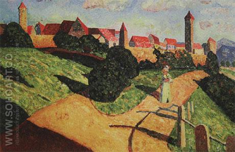 Old Town II 1902 - Wassily Kandinsky reproduction oil painting