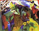 Murnau Garden I 1910 - Wassily Kandinsky reproduction oil painting