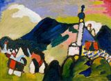 Murnau with Church II 1910 - Wassily Kandinsky