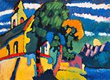 Riegsee Village Church 1908 - Wassily Kandinsky