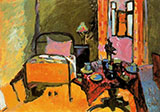 Bedroom in  Ainmillerstrabe 1909 - Wassily Kandinsky