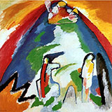 Mountain 1908 - Wassily Kandinsky