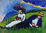 Jawlensky and Werefkin c1908 - Wassily Kandinsky reproduction oil painting