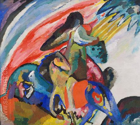Improvisation 12 Rider 1910 - Wassily Kandinsky reproduction oil painting