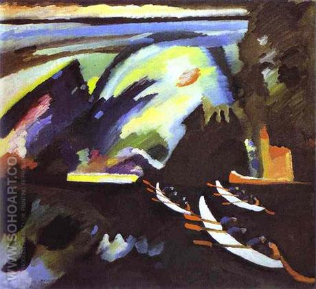Boat Trip 1910 - Wassily Kandinsky reproduction oil painting