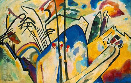 Composition IV 1911 - Wassily Kandinsky reproduction oil painting
