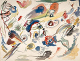 Untitled First Abstract Watercolour 1910 1913 - Wassily Kandinsky