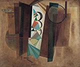 Development in Brown 1933 - Wassily Kandinsky
