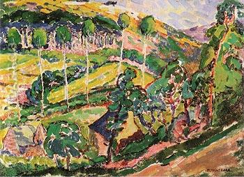 Brittany Landscape 1911 - Emily Carr reproduction oil painting