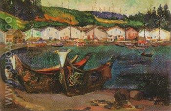 Alert Bay 1912 - Emily Carr reproduction oil painting