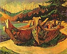 War Canoes 1912 - Emily Carr reproduction oil painting