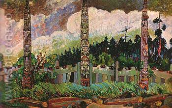 Tanoo Queen Charlotte Islands 1913 - Emily Carr reproduction oil painting