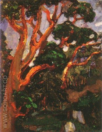 Arbutus Tree 1913 - Emily Carr reproduction oil painting
