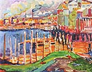 Sawmills Vancouver 1912 - Emily Carr reproduction oil painting