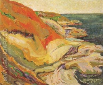 Along the Cliff Beacon Hill 1919 - Emily Carr reproduction oil painting