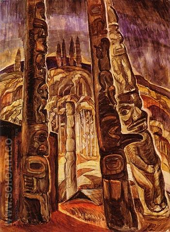 Kitwancool 1928 1 - Emily Carr reproduction oil painting