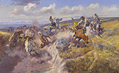 A Tight Dally and A Loose Latigo 1920 - Charles M Russell