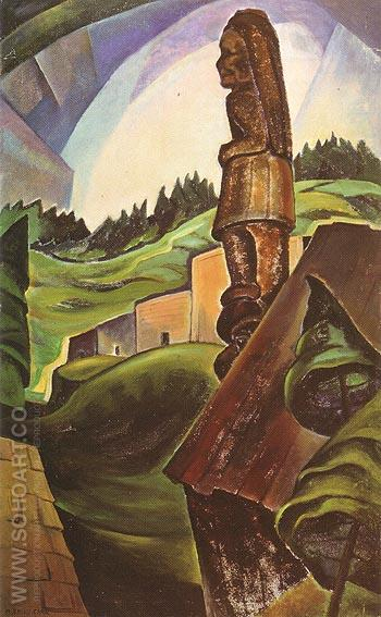 British Columbia Indian 1930 - Emily Carr reproduction oil painting