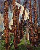 Kitwancool 1928 - Emily Carr reproduction oil painting