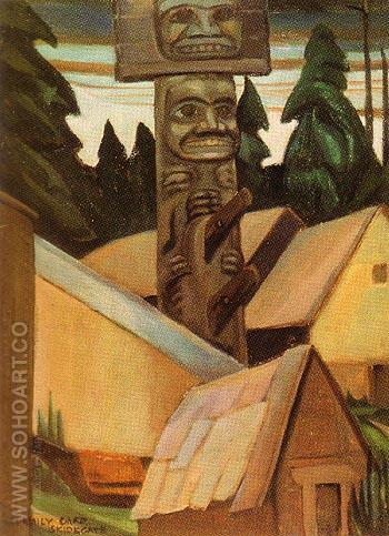 Skidegate 1928 - Emily Carr reproduction oil painting