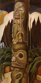 The Crying Totem 1928 - Emily Carr reproduction oil painting